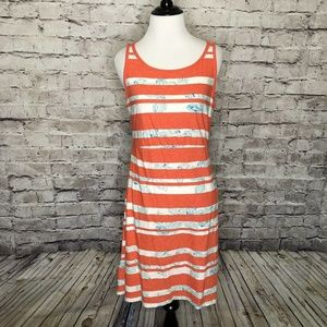Tommy Bahama Orange Striped Peekaboo Paisley Dress